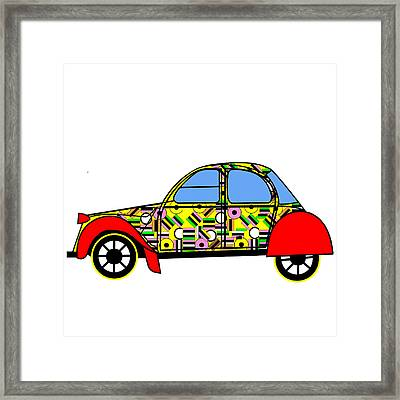 Nerds Car - Virtual Cars Framed Print by Asbjorn Lonvig