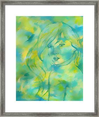 Nerissa  Daughter Of The Sea Framed Print by The Art With A Heart By Charlotte Phillips