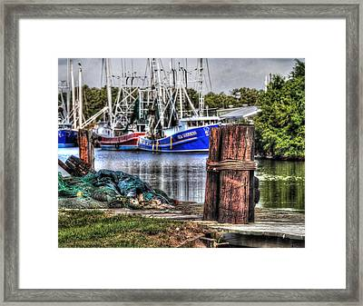 Nets And The Sea Goddess Framed Print by Michael Thomas