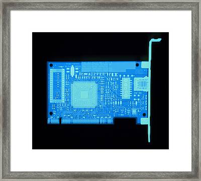Network Card X-ray Framed Print by D. Roberts