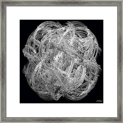 Network Framed Print by Michael Durst