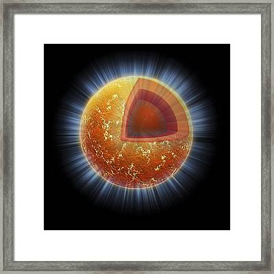 Neutron Star Structure, Artwork Framed Print by Nasacxcm.weiss