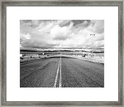 Nevada Test Site Entrnace Framed Print by Jan W Faul