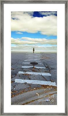 Never Ending Crosswalk Framed Print by Jill Battaglia