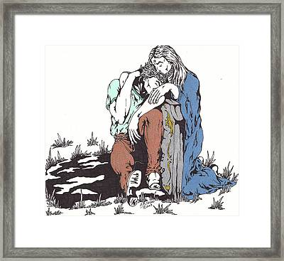 Never Leave You Framed Print by Audrey Snead