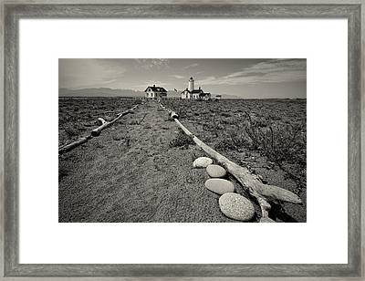 New Dungeness Lighthouse Framed Print by Dan Mihai