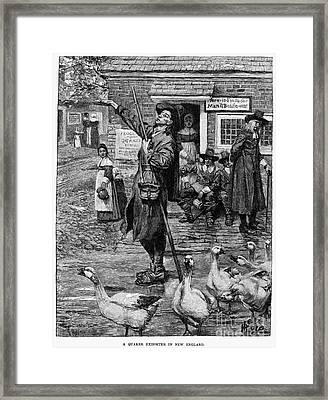 New England: Quaker, 1660 Framed Print by Granger