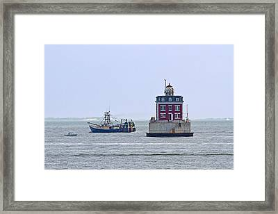 New London Ledge Lighthouse. Framed Print by David Freuthal