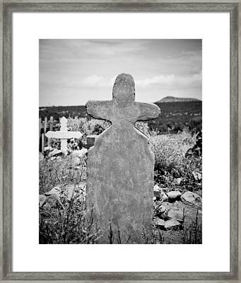 New Mexico Cross Framed Print by Sonja Quintero