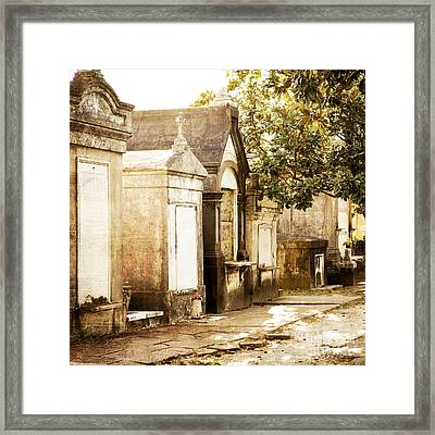 New Orleans Lafayette Cemetery No.1 Framed Print by Kim Fearheiley