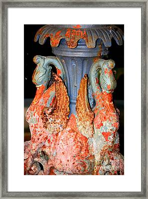 New Orleans Swan Fountain Framed Print by Carol Groenen