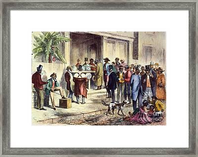 New Orleans: Voting, 1867 Framed Print by Granger