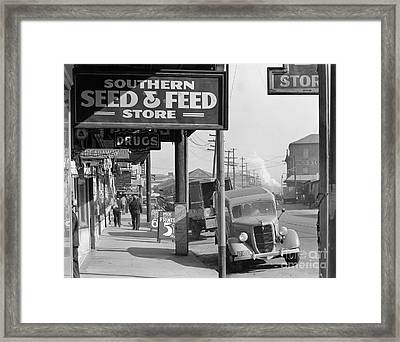 New Orleans: Waterfront, 1935 Framed Print by Granger