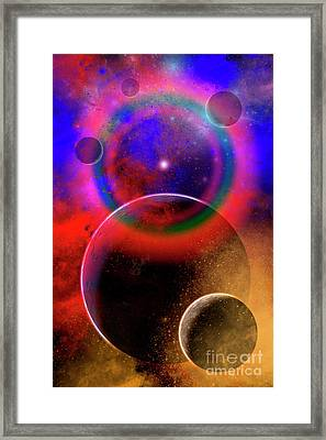 New Planets And Solar Systems Forming Framed Print by Mark Stevenson