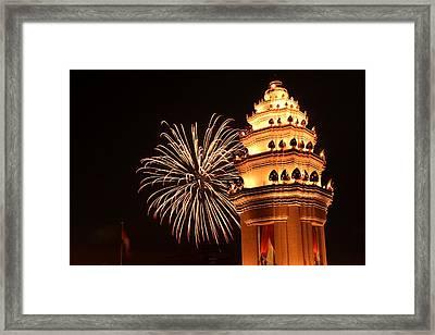 New Year In Phnom Penh Framed Print by Nabil Kannan