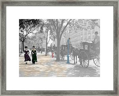 New York 1900 Framed Print by Andrew Fare