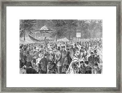 New York: Bandstand, 1869 Framed Print by Granger