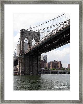 New York Bridges 1- Brooklyn Bridge Framed Print by Ausra Huntington nee Paulauskaite
