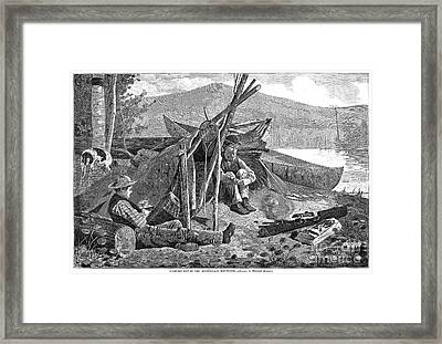 New York: Camping, 1874 Framed Print by Granger