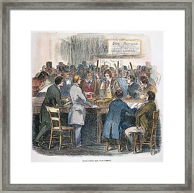 New York City: Ballot, 1844 Framed Print by Granger