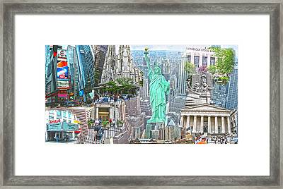 New York City Beyond Nine Eleven Framed Print by Ted Lang