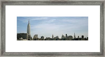 New York City Skyline Framed Print by Axiom Photographic