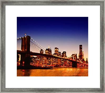 New York Cityscape Framed Print by ©jesuscm
