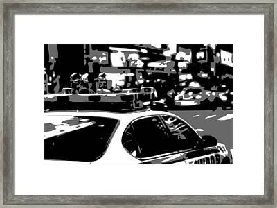 New York Cop Car Bw3 Framed Print by Scott Kelley