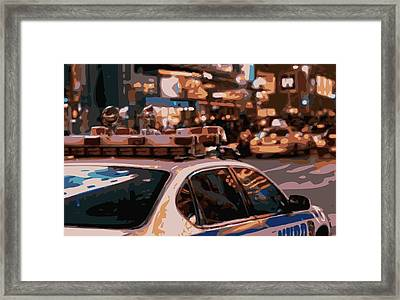 New York Cop Car Color 16 Framed Print by Scott Kelley