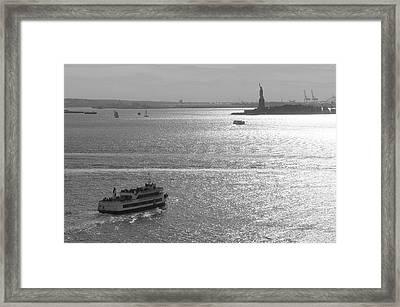 New York Harbor Framed Print by Christian Heeb