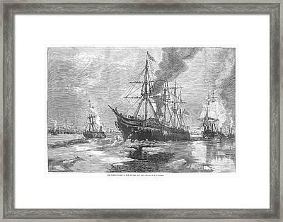 New York Harbor: Ice, 1881 Framed Print by Granger