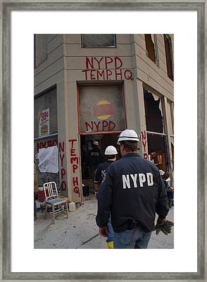 New York Police Department Set Framed Print by Everett