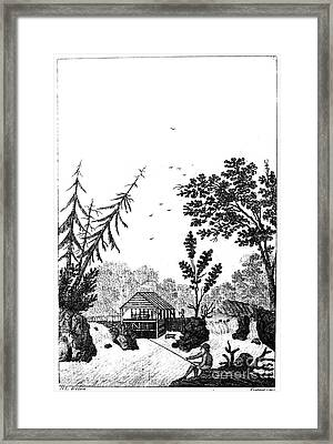 New York: Saw Mill, 1792 Framed Print by Granger