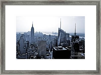 New York Skyline Framed Print by Thomas Splietker