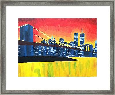 New York State Of Mind Framed Print by Tiffany King