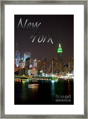 New York Framed Print by Syed Aqueel
