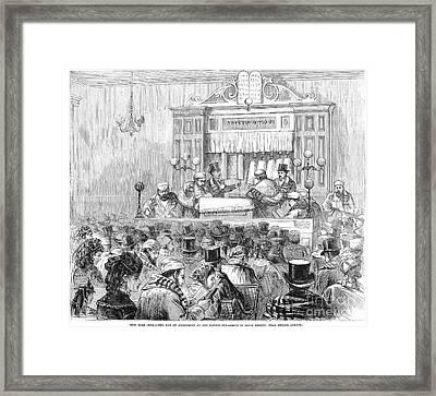 New York Synagogue, 1871 Framed Print by Granger