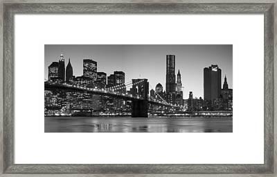 New York Twilight 2 Framed Print by Andria Patino