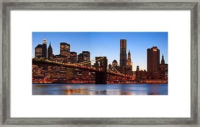 New York Twilight Framed Print by Andria Patino