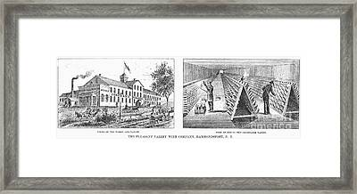 New York: Winery, 1878 Framed Print by Granger