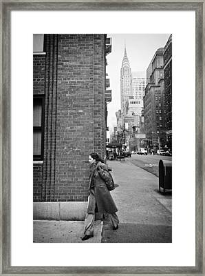 New Yorker Framed Print by Ilker Goksen
