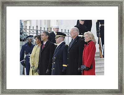 Newly Inaugurated President Obama Framed Print by Everett