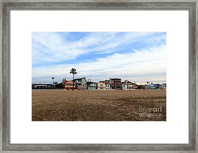 Newport Beach Oceanfront Houses Framed Print by Paul Velgos