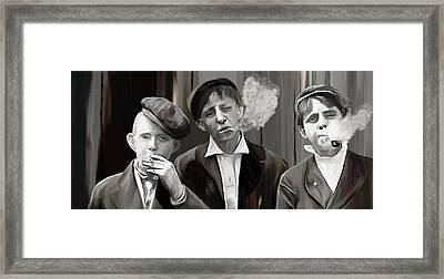 News Boys Framed Print by James Shepherd