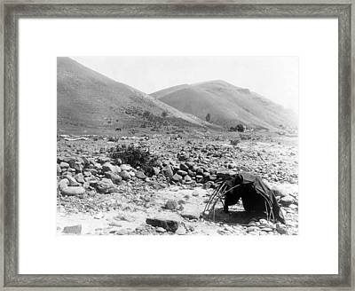 Nez Percé Sweat-lodge. Edward S. Curtis Framed Print by Everett