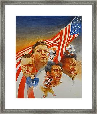 Nfl Hall Of Fame 1984 Game Day Cover Framed Print by Cliff Spohn