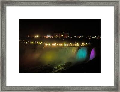 Niagara Fall Colors Framed Print by Cheryl Cencich