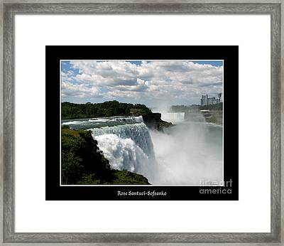 Niagara Falls American And Canadian Horseshoe Falls Framed Print by Rose Santuci-Sofranko