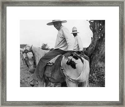 Nicaraguans Braid And Tie Horses Tails Framed Print by Luis Marden