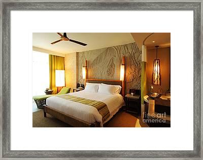 Nice Hotel-room Framed Print by Atiketta Sangasaeng